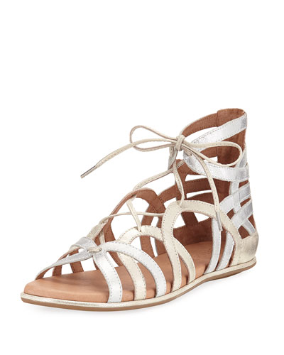 Break My Heart Flat Gladiator Sandal, Multi