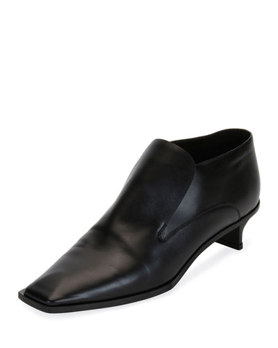 Flat Heeled Slip-On Loafer, Black