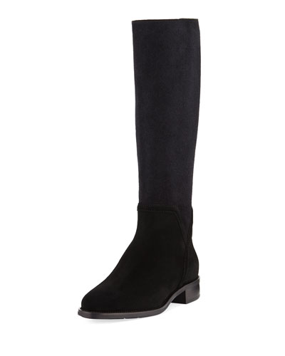 Nicolette Suede-Stretch Tall Boot