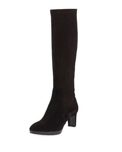 Dahlia Heeled Suede Knee Boot
