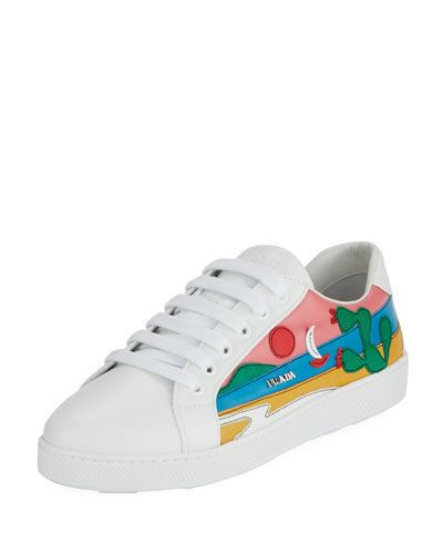 Scenic Mexico Leather Low-Top Sneaker