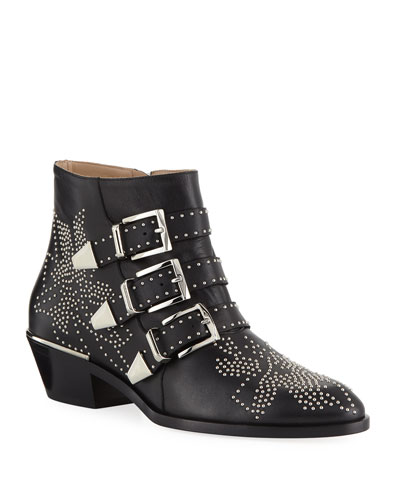 Suzanna Studded Buckle Bootie