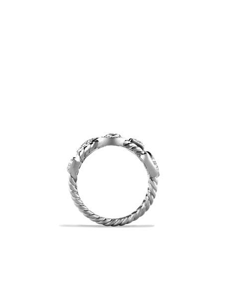 Confetti Four-Row Ring with Diamonds