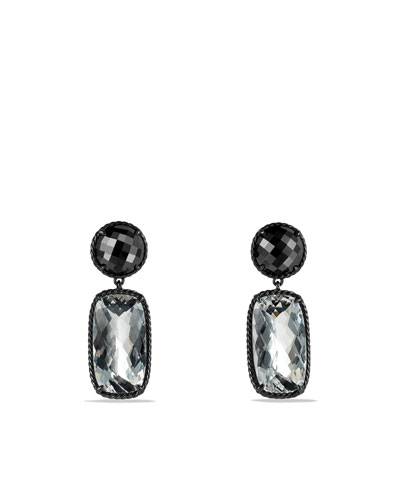 Grisaille Earrings with Crystal and Hematine