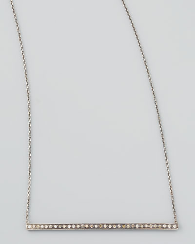 Black Diamond Bar Necklace