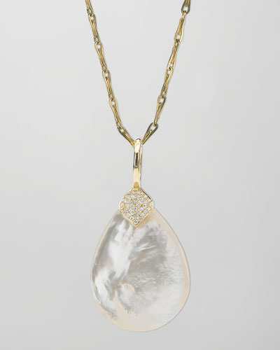 Eliza Large Mother-of-Pearl Pendant Necklace
