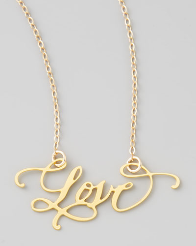 Love Hand-Calligraphed Necklace