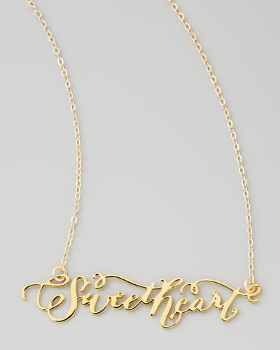 Sweetheart Hand-Calligraphed Necklace