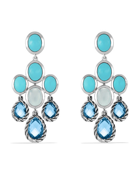 David yurman chandelier earrings with blue topaz turquoise and chandelier earrings with blue topaz turquoise and milky quartz aloadofball Image collections