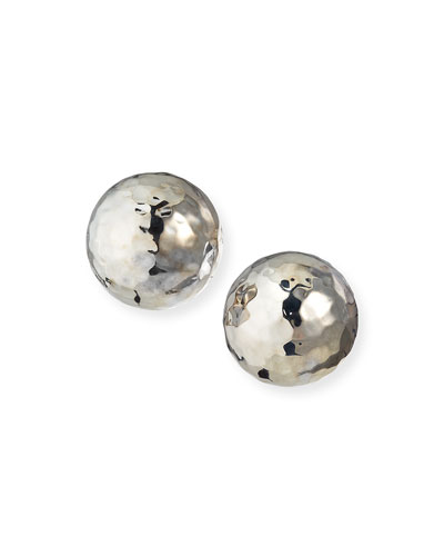Sterling Silver Glamazon Pinball Clip-On Earrings