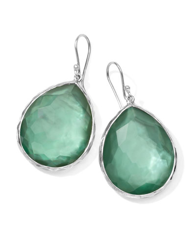 Sterling Silver Wonderland Teardrop Earrings in Mint