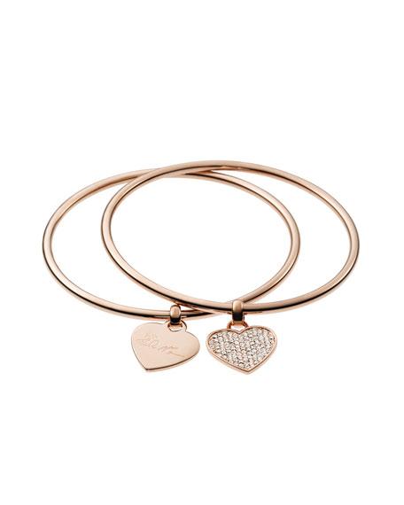 2078bfc0636e Michael Kors Heart Charm Bangle Set