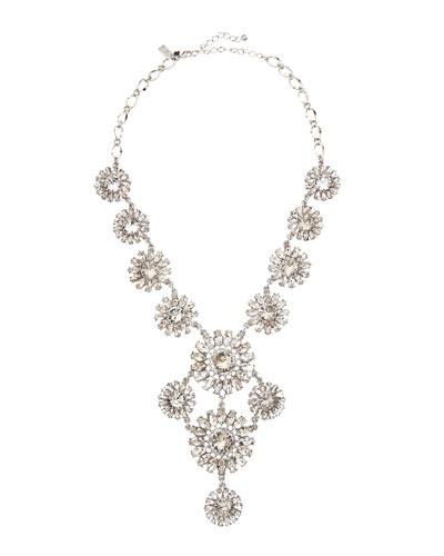 estate garden necklace, white