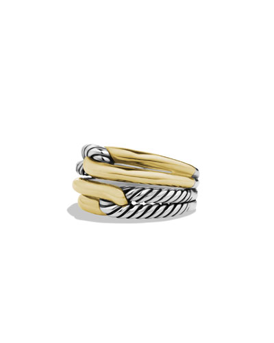Labyrinth Double-Loop Ring