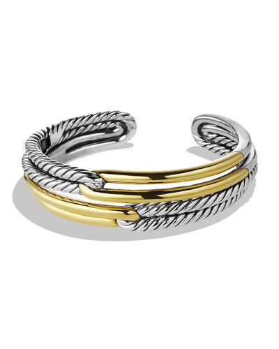Labyrinth Double-Loop Cuff with Gold