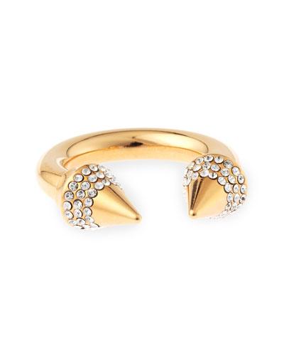 Crystal Titan Ring, Rose Golden