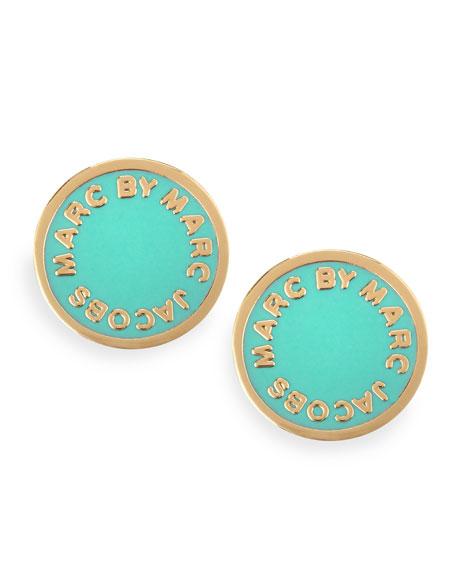 f8a4067cd MARC by Marc Jacobs Enamel Logo Disc Stud Earrings, Green