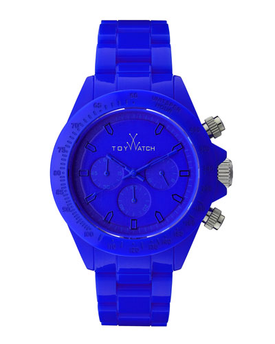 Plasteramic Chronograph Watch, Blue