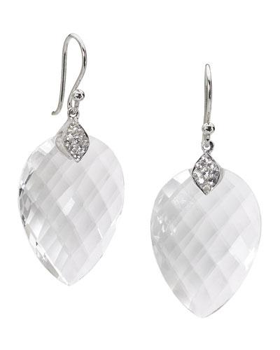 Susanna White Quartz & Sapphire Drop Earrings