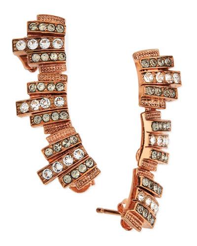 Lou Lou Lobo Earrings, Rose Gold Plate