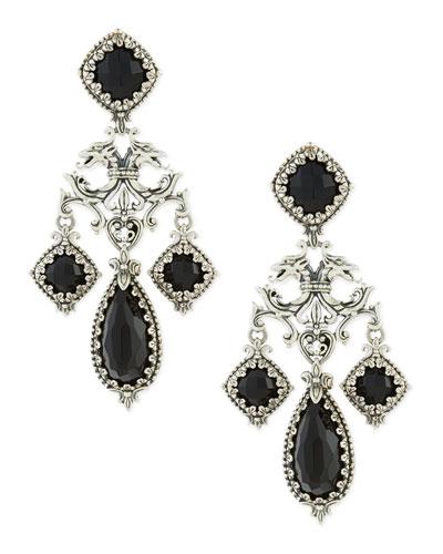 Ornate Black Onyx Earrings