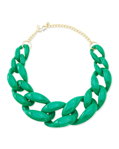 Green Link Necklace