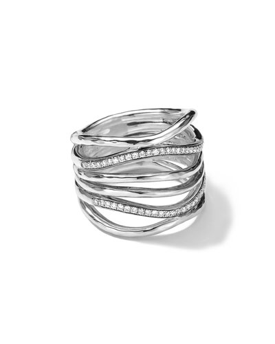Sterling Silver Multi-Band Ring with Diamonds (0.32ctw)