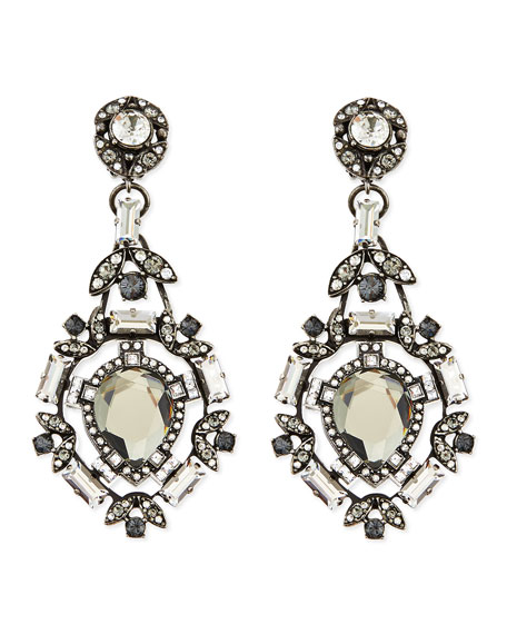Lanvin clear crystal clip on chandelier earrings clear crystal clip on chandelier earrings aloadofball Choice Image