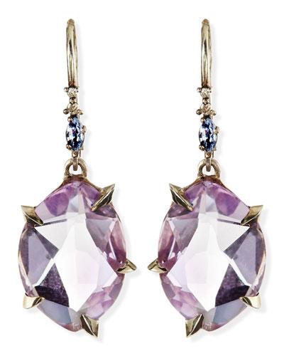 Cool Heather Marquise Amethyst Drop Earrings