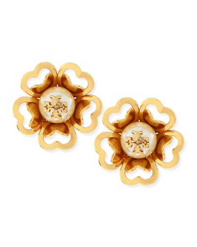 Katie Resin-Pearl Stud Earrings