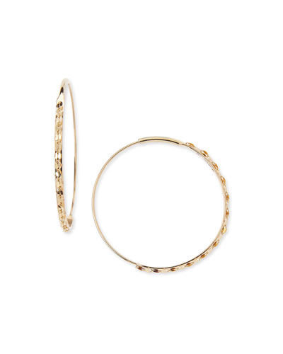 14k Small Glam Magic Hoop Earrings