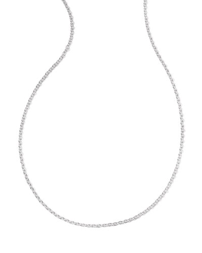 Sterling Silver Thick Charm Chain Necklace, 16-18""