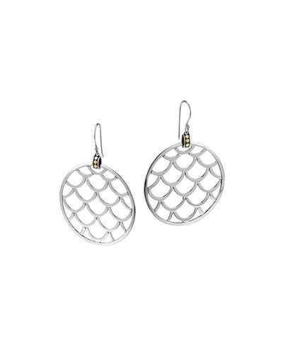 Naga Gold & Silver Large Round Earrings