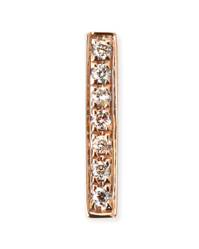 14k Gold Diamond Bar Single Stud Earring