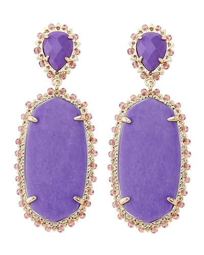 Parsons Clip-On Earrings, Violet
