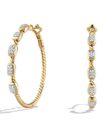 Confetti Hoop Earring with Diamonds in Gold