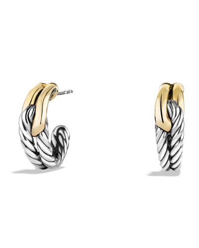 Labyrinth Single-Loop Earrings with Gold