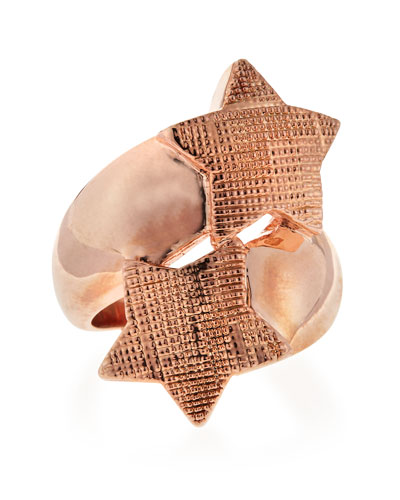 Double Star Ring, Rose Gold