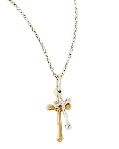 Freedom Cross Double Pendant Necklace
