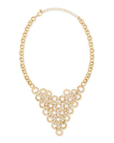 Circle & Oval Bib Necklace