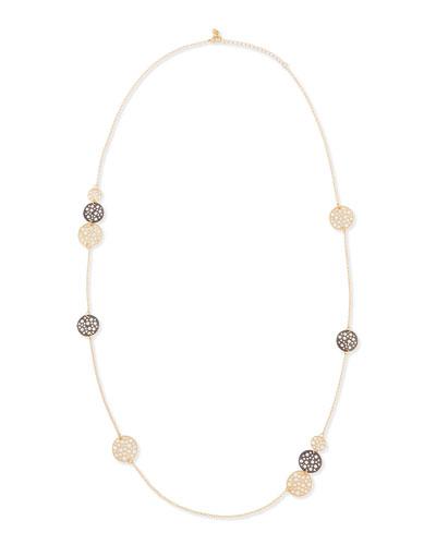 Long Sea Necklace, Yellow Golden