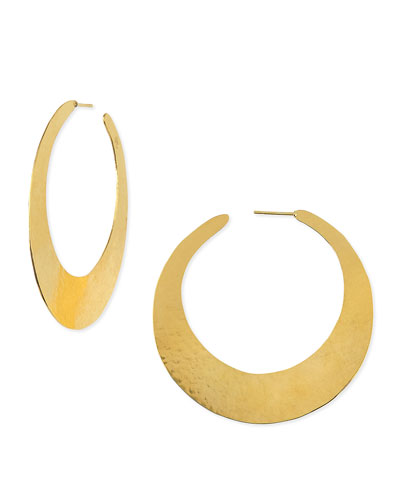 Epure 24k Gold-Plated Flat Hoop Earrings