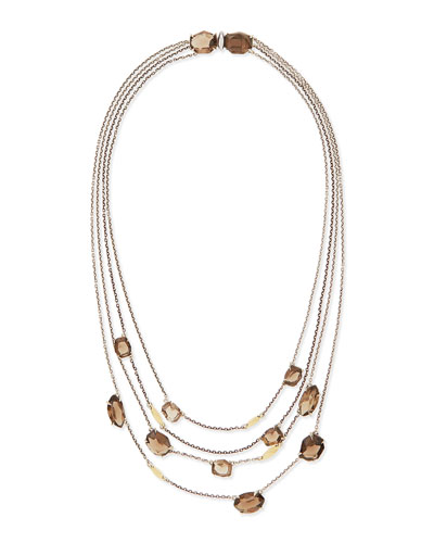 5-Strand Smoky Quartz Necklace