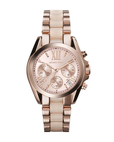 Mini Rose Golden/Blush Stainless Steel Bradshaw Chronograph Watch