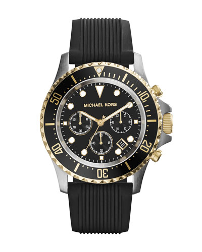 Oversize Black Silicone Everest Chronograph Watch
