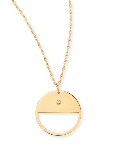 Coco Cutout Diamond Charm Necklace