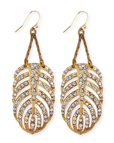 Drift Crystal Feather Earrings