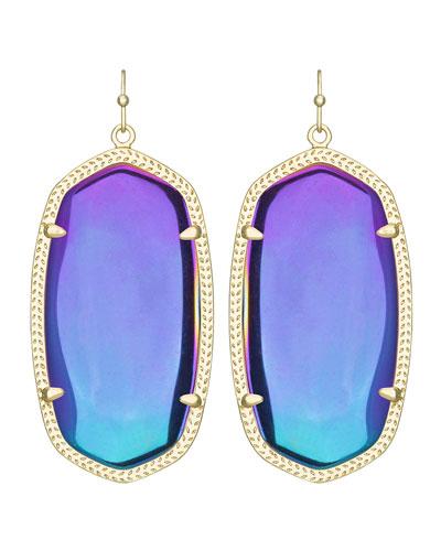 Danielle Black Iridescent Earrings