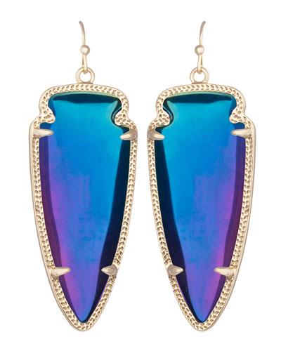 Skylar Earrings, Black Iridescent