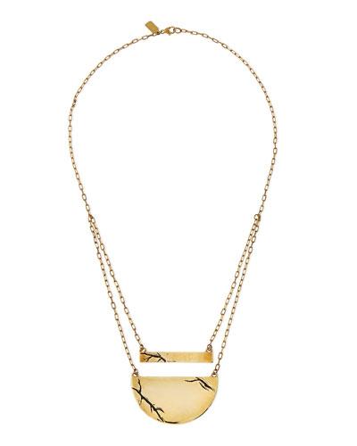 Golden Chasm Pendant Necklace